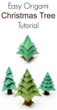 DIY Easy Origami Christmas Tree Tutorial More