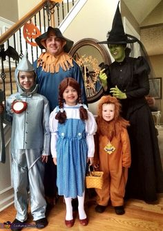Julie: We had a fantastic time as the Wizard of Oz family! Mom was the Wicked witch of the West, Dad was the Scarecrow, oldest son was the Tin Man, daughter...