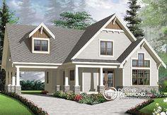 Plan de Maison unifamiliale W3507-V1, dessinsdrummond drummonddesigns drummondhouseplans, house inspiration, home, maison, contemporaine, modern, chalet, cottage