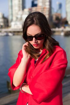 Red coat, red lips