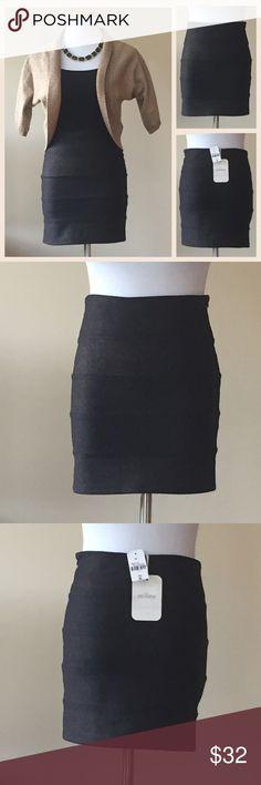 Selling this Black Mini Skirt with Subtle Gold Shimmer NWT on Poshmark! My username is: kt_wood. #shopmycloset #poshmark #fashion #shopping #style #forsale #Millau #Dresses & Skirts