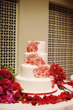 Nashville-wedding-Nashville-wedding-planner-Schermerhorn-Symphony-wedding-Indian-reception-wedding-cake-paisley-design