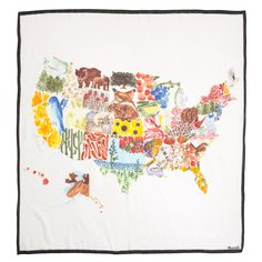 state symbols—birds, flowers and even fruits—come alive on this watercolor depiction of the good ole U.S. of A. - Google Search