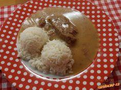 Lahodná omáčka z marinovaného hovězího Czech Recipes, Stew, Grains, Meat, Food, Kochen, One Pot, Essen, Yemek