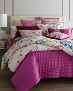 "+4168 Designers Guild ""Lotus Flower"" Bed Linens"