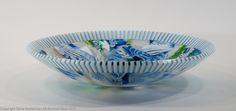 """""""Summertime"""" 15"""" kilnformed bowl Bullseye Glass, Glass Artwork, Glass Design, Fused Glass, Decorative Bowls, Plates, Trays, Summertime, Design Ideas"""