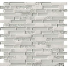 MS International Delano Blanco 12 in. x 12 in. x 6 mm Glass Stone Mesh-Mounted Mosaic Tile (15 sq. ft. / case), Ivory