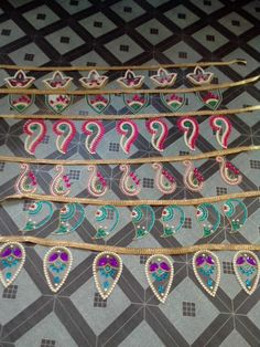 Love this all kundan toran's design made by me <3