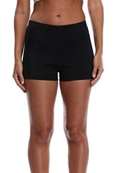 Attraco Women's Plus Size Tankini Boyleg Swim Bottom Broad Swim Shorts
