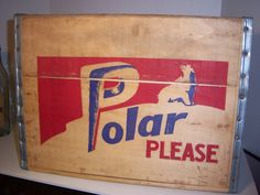 1960's Polar (Bear) Worcester, Ma Wooden Soda Crate or Advertising Box. $30.00, via Etsy.