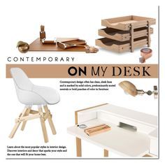 """What's on My Desk?"" by viva-12 ❤ liked on Polyvore featuring interior, interiors, interior design, home, home decor, interior decorating, Kubikoff, Skagerak, Faber-Castell and Conran"