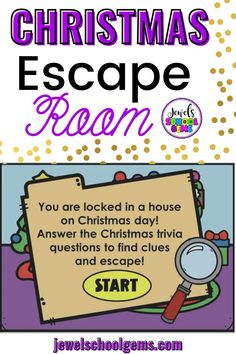 Looking for fun Christmas-themed activities for your students? Try this exciting digital Christmas escape room for kids on Boom Learning. Your students will find themselves having to escape a house on Christmas Day. They must go through four different rooms in the house and click on objects in each room to find clues. They must answer multiple-choice Christmas trivia questions correctly in order to see if the object has a letter for the special word. Your students will surely enjoy!
