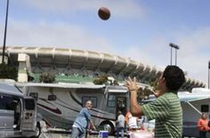 The easiest and most appropriate tailgating amusement is easily provided for by packing one or several pigskins.