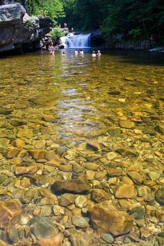 Bristol Falls swimming hole, Vermont. www.vtliving.com/beaches/