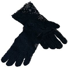 Saro Handmade Machine Washable Fine Crochet Lace Gloves (€12) ❤ liked on Polyvore featuring accessories, gloves, black, crochet gloves, crochet lace gloves, long gloves, cotton gloves and long cotton gloves