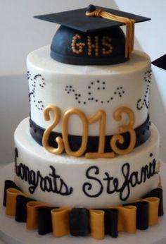 Dessert Menu's 2013 Graduation cake
