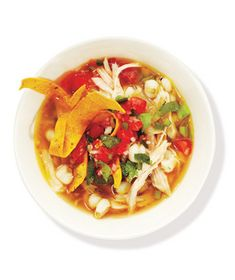 10 Quick and Easy Soup Recipes By Charlyne Mattox and Dawn Perry Warm up with a bowl of your favorite winter comfort food. Here, find tomato, chicken, vegetable, and more quick soup recipes. Quick Soup Recipes, Quick And Easy Soup, Tomato Soup Recipes, Dinner Recipes, Cooking Recipes, Healthy Recipes, Hominy Recipes, Oven Recipes, Simple Recipes