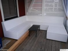 patio, storage, couch, home built, site-built couch – Armchair Ideas Deck Seating, Garden Seating, Garden Chairs, Outdoor Seating, Diy Garden Furniture, Diy Outdoor Furniture, Bench Furniture, Banquette Seating Restaurant, Picnic Table Bench