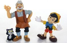 Official Disney Bullyland Characters Pinocchio Geppetto Set Disney Figure | eBay