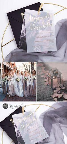 new layered vellum wedding invitation withy photos Diy Wedding, Wedding Ceremony, Wedding Ideas, Wedding Stuff, Gold Wedding Colors, Spring Wedding Invitations, Wedding Envelopes, Wedding Inspiration, Photos