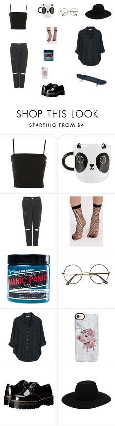 """build god, then we'll talk"" by kate-563 on Polyvore featuring Topshop, Sass & Belle, Pilot, Manic Panic NYC, Xirena, Casetify and Dr. Martens"