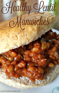 Lentil Manwiches For all you guys who loved Manwiches as a kid – this recipe's for you. Forget the beef – Lentils are the new thing – and with this homemade sauce? Whole Food Recipes, Cooking Recipes, Healthy Recipes, Vegetarian Recipes For Kids, Beginner Vegetarian, Vegan Sandwich Recipes, Vegan Sandwiches, Pea Recipes, Passover Recipes