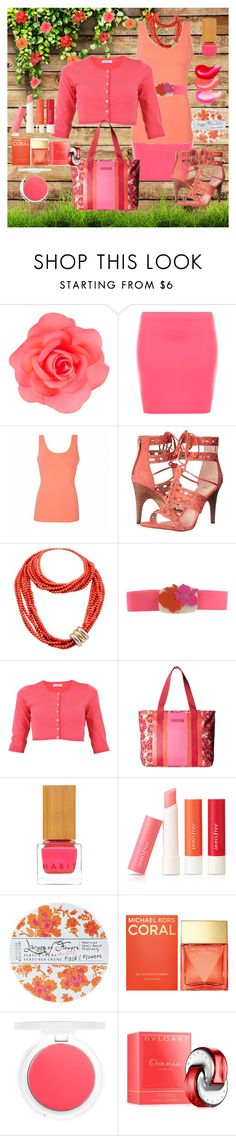 """""""It's Coral Baby!"""" by loves-elephants ❤ liked on Polyvore featuring Accessorize, WearAll, Ally Fashion, Vince Camuto, Poiray Paris, P.A.R.O.S.H., Tommy Hilfiger, Habit Cosmetics, Innisfree and Library of Flowers"""