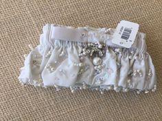 NWT Bridal Garter Seed Pearls Rhinestones  | eBay