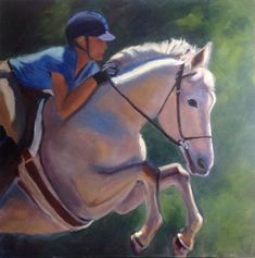 Best In Show- Susan Westmoreland.  36 x 36 inches. Oil on gallery wrapped canvas. #equestrian #horses #horselove