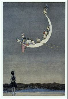 Moon's First Voyage by W. Heath Robinson