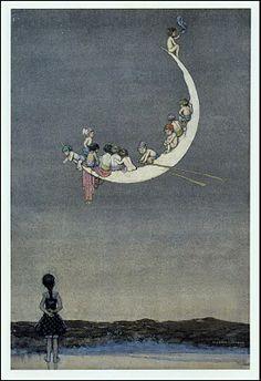 Moon's First Voyage by W. Heath Robinson