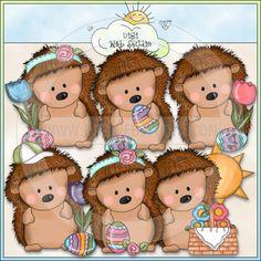Pepper The Hedgehog Easter Wishes 1 - NE Cheryl Seslar Clip Art