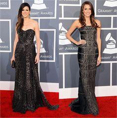 Print Gowns-- Grammy Awards 2013