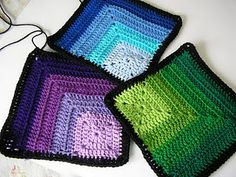 I like this - it's sort of a crochet log cabin effect