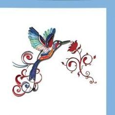 Humming Bird 6x6 blank greeting card