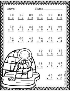 Double Digit Multiplication With Regrouping, Two Digit Multiplication Free Two Digit Multiplication, Free Multiplication Worksheets, School Worksheets, Multiplication Strategies, Math Stations, Math Centers, Math Sheets, Material Didático, Math Help
