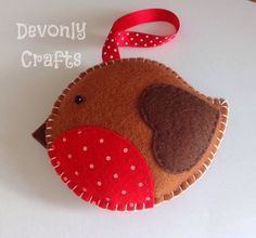 Christmas Robin Felt Hanging Decoration x1 £5.50