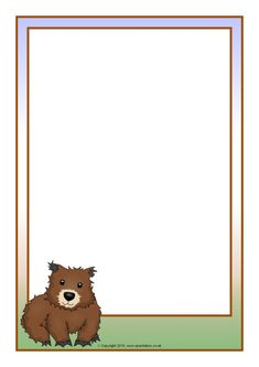 Wombat Page Borders - SparkleBox Page Borders, Free Teaching Resources, Daycare Crafts, Wombat, Zoology, A4, Free Printables, Decorating, Wallpaper