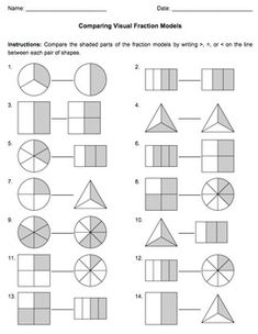 Printables Understanding Fractions Worksheet fractions wall teaching math pinterest and understanding with visual models common core aligned bundle of ten worksheets