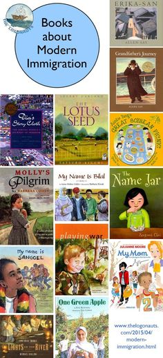 Books about Modern Immigration and Immigrants. Collection of picture books about recent US immigration and kids of immigrants. From @thelogonauts