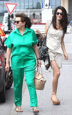 Amal with her mother