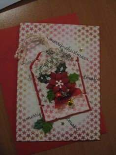 kerst kaart met labels en sterren mask