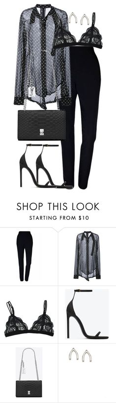 """Untitled #3132"" by theeuropeancloset ❤ liked on Polyvore featuring Plakinger, Unravel, Yves Saint Laurent and Orelia"