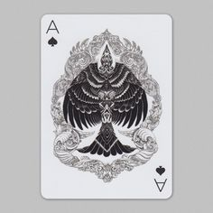 Playing Arts : Ace of Spades by Iain Macarthur, via Behance Ace Of Spades Tattoo, Spade Tattoo, Playing Cards Art, Collaborative Art Projects, Unique Cards, Deck Of Cards, Illustrators, Behance, Tattoo Designs