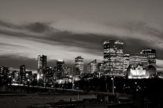 Edmonton - like the black & white image Great Places, Places To Go, Spain Images, Lake Union, Canada Images, Western Canada, City Landscape, Tourist Spots