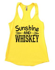 Sunshine And Whiskey Womens Workout Tank Top
