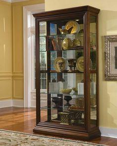 curio cabinet living room