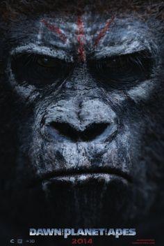 Pósters simiescos de 'El amanecer del planeta de los simios'
