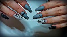 #Grey nails #nail art