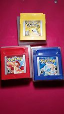 pokemon yellow pokemon blue and pokemon red. pokemon games loose. cart only   get it http://ift.tt/2b5ugX7 pokemon pokemon go ash pikachu squirtle